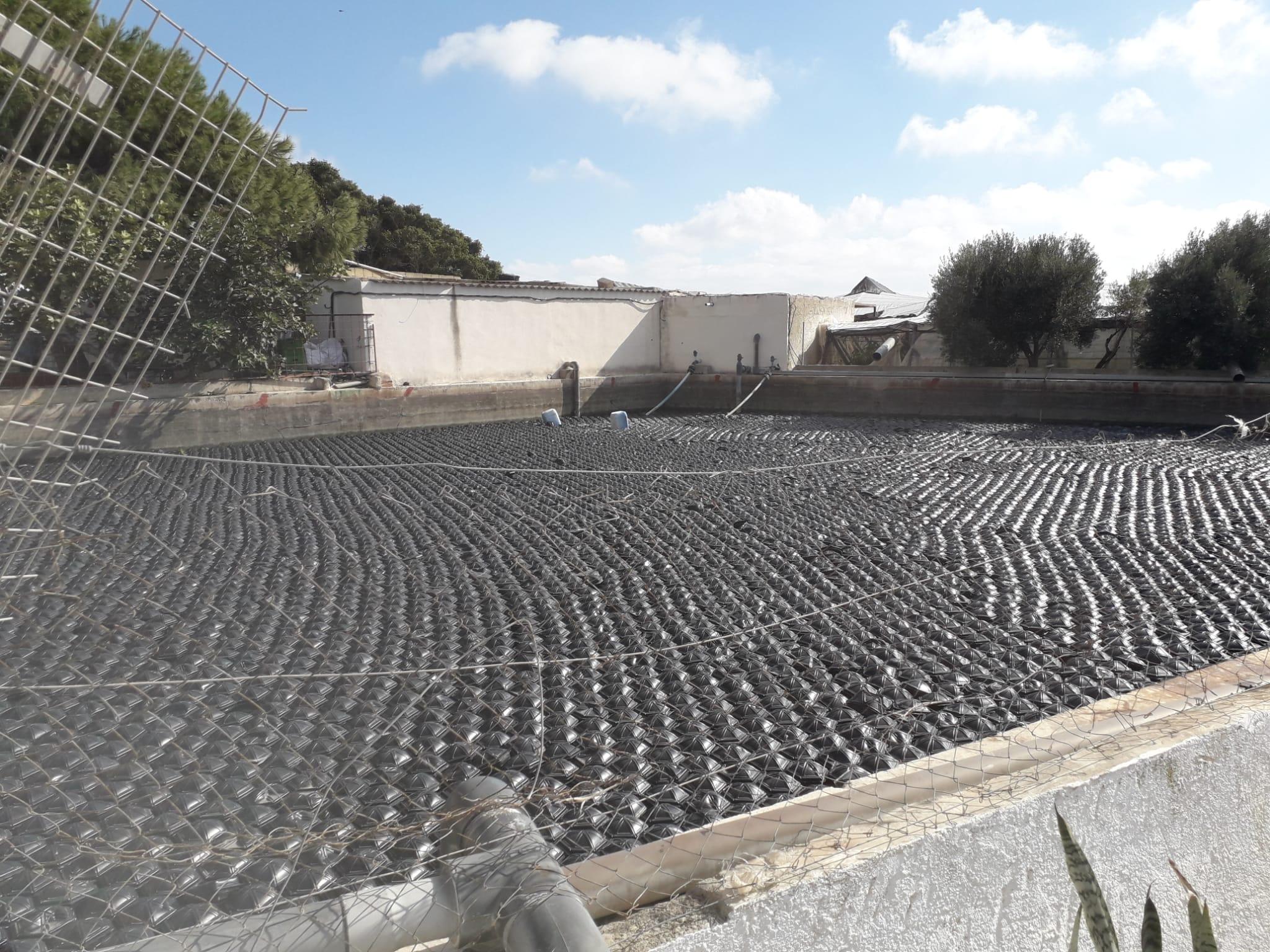 eliminación de algas balsa de riego